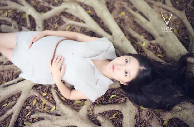清新森系孕妇照