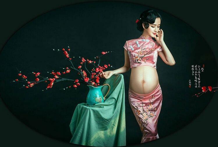 复古中国风孕妇