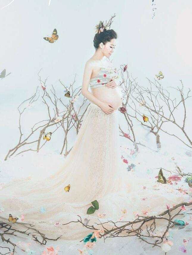唯美国花系列孕妇照