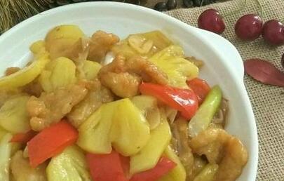 菠萝炒鱼片