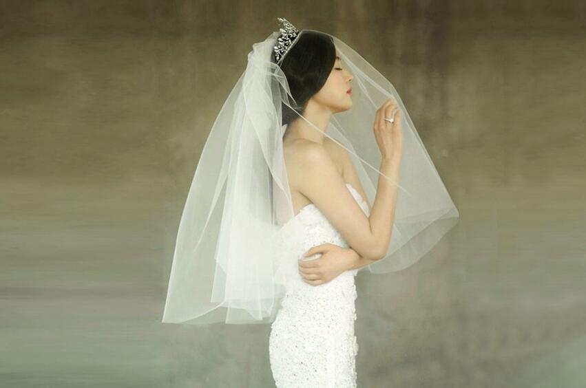 全智贤婚纱照