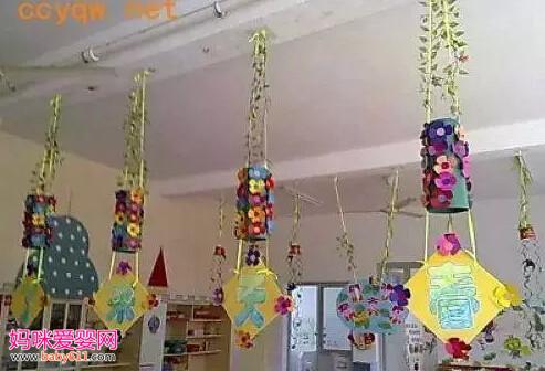 幼儿园春天环创吊饰欣赏